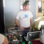 Bill Culverhouse manning the 3D printer at BEST Fest.
